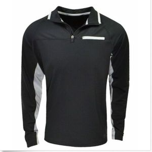 Fila Shirts - Fila Men's 1/4 Zip Pullover Athletic Shirt Black